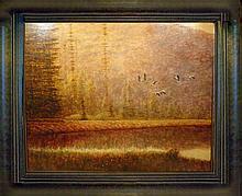 Marsh Scene Acrylic Original Sign Dealer Liquidate ART SALE Dealer Liquidation Great Value Popular Artist