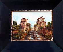 Detailed European St Scene Original Signed Painting Canvas Museum Quality Painting Impressionism Art