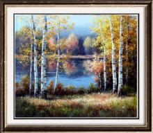 Fantastic Impressionism Canvas Fall Reflections Colorful Original Signed Art