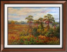 Impressionism Colorful Landscape Painting on Canvas Marsh Traditional Art
