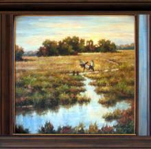 Everglades Wildlife Birds Landscape Low Country PAINTING Original Scenic Fabulous Marsh Impressionism