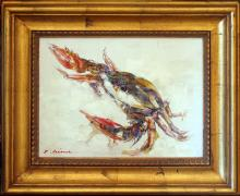 Lobster Colorful RARE SALE Framed Original Acrylic ART SALE Abstract Modern Contemporary Art Sale