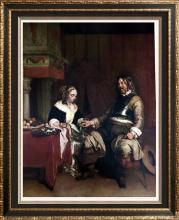 Masterpieces of Dutch Painting Gerard Terborch: The Gallant c.1665 Fine Art Print