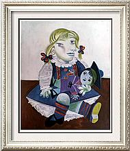 Pablo Picasso Maia with Sailor Doll c.1938 Fine Art Print