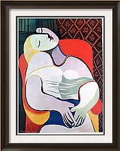 Pablo Picasso Dream c.1932 Fine Art Print Signed in Plate