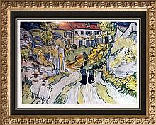 Vincent Van Gogh Stairway at Auvers c.1890 Fine Art Print