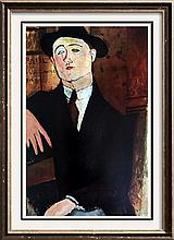 Amedeo Modigliani Paul Guillaume c.1916 Fine Art Print Signed in Plate