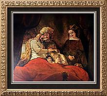 Rembrandt (Harmensz Van Rijn) Jacob Blessing the Sons of Joseph c.1656 Fine Art Print