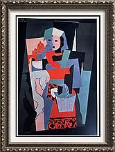 Pablo Picasso Italian Woman c.1917 Fine Art Print Signed in Plate