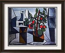 Pablo Picasso Tomato Plant and Decanter c.1944 Fine Art Print