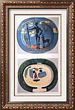 Pablo Picasso Decorated Plates: Faun and Goat c.1948 Fine Art Print