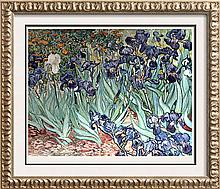 Vincent Van Gogh Irises c.1889 Fine Art Print Signed in Plate