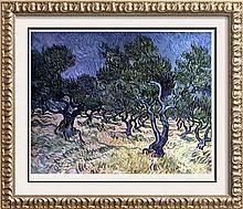 Vincent Van Gogh Olive Orchard c.1889 Fine Art Print Signed in Plate