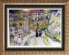 Vincent Van Gogh Stairway at Auvers c.1890 Fine Art Print