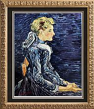 Vincent Van Gogh Mademoiselle Ravoux c.1890 Fine Art Print Signed in Plate