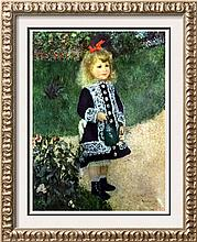 Pierre Auguste Renoir A Girl with a Watering Can c.1876 Fine Art Print Signed in Plate