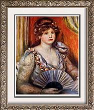 Pierre Auguste Renoir Lady with a Fan c.1906 Fine Art Print Signed in Plate