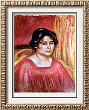 Pierre Auguste Renoir Gabrielle in a Red Blouse c.1910 Fine Art Print Signed in Plate