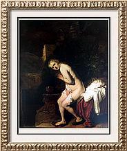 Rembrandt (Harmensz Van Rijn) Susanna at the Bath c.1637 Fine Art Print Signed in Plate