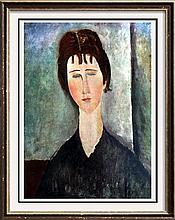 Amedeo Modigliani Young Girl with Brown Hair c.1918 Fine Art Print