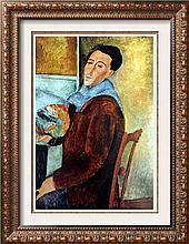 Amedeo Modigliani Self-Portrait c.1919 Fine Art Print Signed in Plate