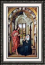 Masterpieces of Flemish Painting Rogier Van Der Weyden: Christ Appearing to his Mother c.1440 Fine Art Print