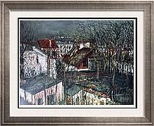 Maurice Utrillo The Berlioz House and the Hunting Lodge of Henry IV c.1917 Fine Art Print Signed in Plate
