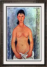 Amedeo Modigliani Peintures Elvire Nue c.1919 Fine Art Print Signed in Plate
