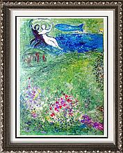 Fantastic Colored Lithograph Marc Chagall (After) Dealer Liquidation