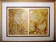 Orlando Agudelo Botero Classical Expressions 2 Piece Framed Museum Art