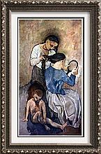 Pablo Picasso La Coiffure c.1905 Fine Art Print Signed in Plate