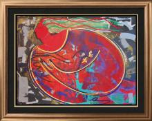 NO RESERVES Abstract Limited Edition & ORIGINAL Art Colorful Modern Dealer LIQUIDATION PRE-BID & WIN Below Cost Auction