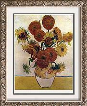 Vincent Van Gogh Sunflowers c.1888 Fine Art Print Signed in Plate