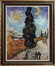 Vincent Van Gogh Road with Cypress c.1890 Fine Art Print