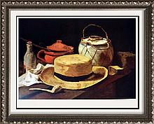 Vincent Van Gogh Still Life: Hat and Pipe c.1884 Fine Art Print