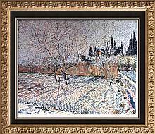 Vincent Van Gogh Orchard, Springtime c.1888 Fine Art Print