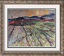 Vincent Van Gogh Landscape with Ploughed Fields c.1889 Fine Art Print