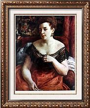 Pierre Auguste Renoir Portrait of Madame Portalis c.1870 Fine Art Print Signed in Plate