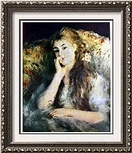 Pierre Auguste Renoir Portrait of a Girl c.1878 Fine Art Print Signed in Plate