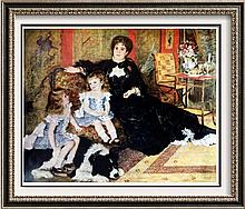 Pierre Auguste Renoir Madame Charpentier and her Children c.1878 Fine Art Print Signed in Plate