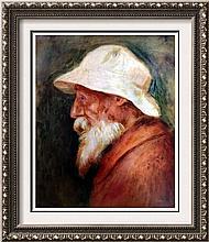 Pierre Auguste Renoir Self-Portrait c.1910 Fine Art Print Signed in Plate