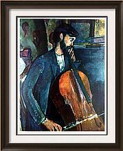 Amedeo Modigliani The Cellist (Study) c.1909 Fine Art Print Signed in Plate