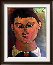 Amedeo Modigliani Head of Kisling c.1915 Fine Art Print Signed in Plate