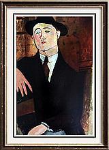 Amedeo Modigliani Paul Guillaume c.1916 Fine Art Print Signed in Plate