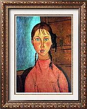 Amedeo Modigliani Girl with Braids c.1917 Fine Art Print Signed in Plate