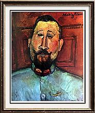 Amedeo Modigliani Dr. Devaraigne c.1917 Fine Art Print Signed in Plate