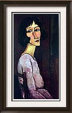 Amedeo Modigliani Portrait of Marguerite c.1917-18 Fine Art Print Signed in Plate