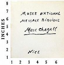 Art Book Liquidation Sale Marc Chagall Musee National Message Biblique Paris