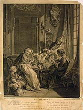 Old Master engraving of F. Boucher painting,