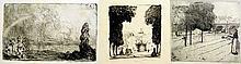 Set of 3 Landscape By Arthur Lewis